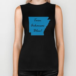 Turn Arkansas Blue! Vote Demorcrat Liberal! 2018 Midterms Biker Tank