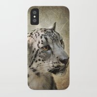 snow leopard iPhone & iPod Cases featuring Snow Leopard by Jai Johnson