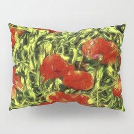 Poppys Van Goth Oil Pastel Art Pillow Sham