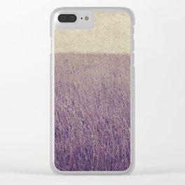 Purple field Clear iPhone Case