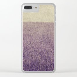 Purple field Clear iPhone Case