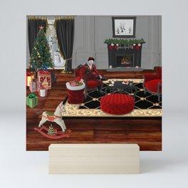 Relax Santa Mini Art Print