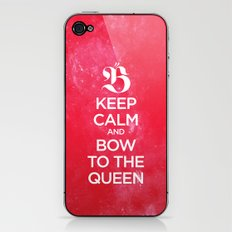 Keep calm and bow to the queen - B iPhone & iPod Skin