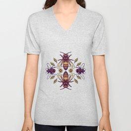 Flowers for Honey Bees Unisex V-Neck