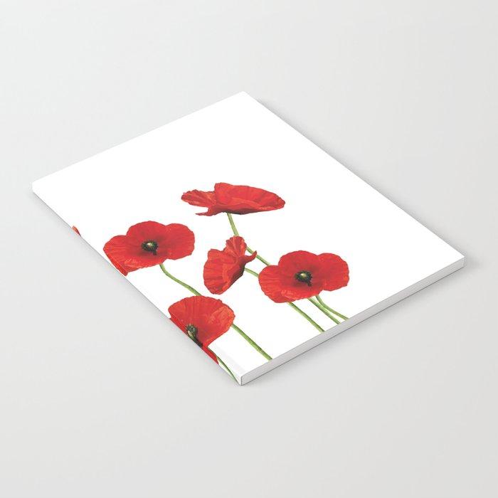 Poppies Field white background Notebook