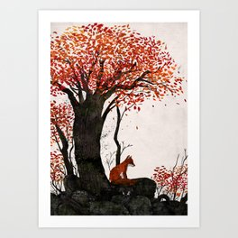The Forest and the Fox Art Print