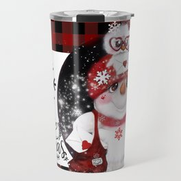 Santa Letter Delivery Snowman by Sheena Pike Travel Mug