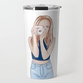 Girl photographer Travel Mug