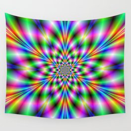 Star in Neon Lights Wall Tapestry
