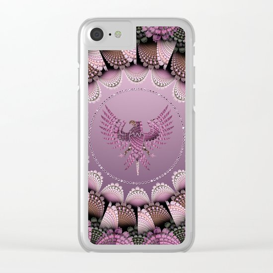 Tribal pattern mandala with an eagle Clear iPhone Case