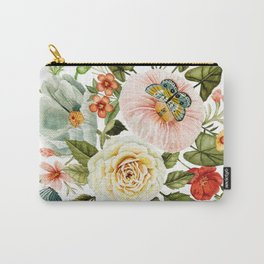 Wildflowers and Butterflies Bouquet  Carry-All Pouch