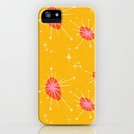 Cosmic Atomic in Mustard iPhone Case