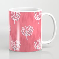 coral Mugs featuring Coral by Marta Li