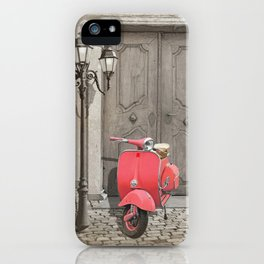 Nostalgia pink scooter iPhone Case