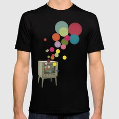 Colour Television LARGE Black Mens Fitted Tee