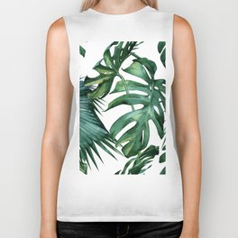 Simply Island Palm Leaves Biker Tank