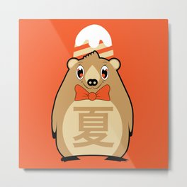 Natsu - Season bear Summer Metal Print
