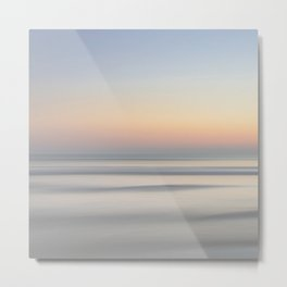 Above The Clouds Sunset Ombre Pattern Metal Print