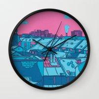 budapest Wall Clocks featuring Budapest by Zsolt Vidak