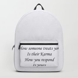 Karmic response Backpack