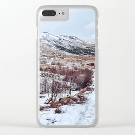 Iceland scene Clear iPhone Case