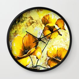 BIG YELLOW FLOWERS Wall Clock
