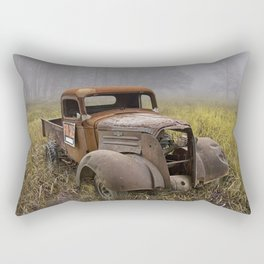 Vintage Chevy Pickup for Sale in a Field of Grass Rectangular Pillow