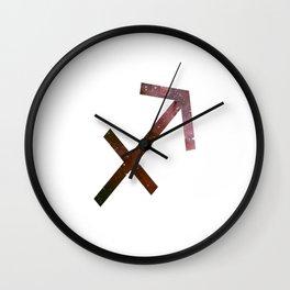 Starry Sagittarius Symbol Wall Clock
