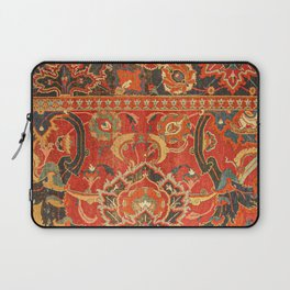 Red Arabic Rug I // 17th Century Colorful Firey Red Light Teal Sapphire Navy Blue Ornate Pattern Laptop Sleeve
