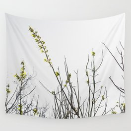 Trees in Black and White Wall Tapestry