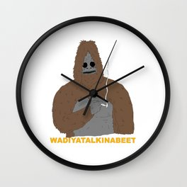 smoking yeti Wall Clock