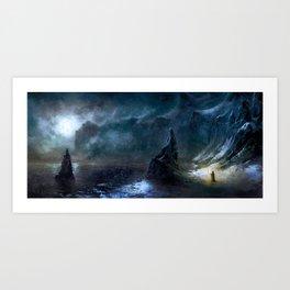 Iced Coast Art Print