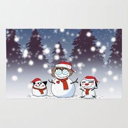 Snowman Christmas Rug