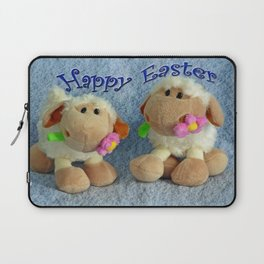 Happy Easter Lambs Laptop Sleeve
