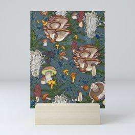 mushroom forest Mini Art Print