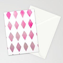 harlequin pink Stationery Cards