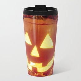 Halloween 🎃 Carved Lighted Pumpkin Travel Mug