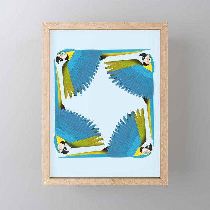 Parrots - Macaw Framed Mini Art Print
