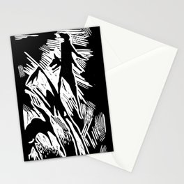 Animals and humans Stationery Cards