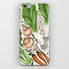 Vegetables iPhone Skin