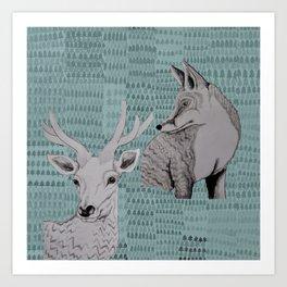 I skogen Art Print