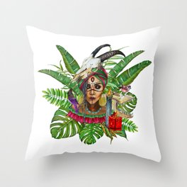 VoodoWitch #2 Throw Pillow