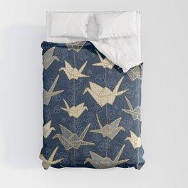 Sadako's Good Luck Cranes Comforters