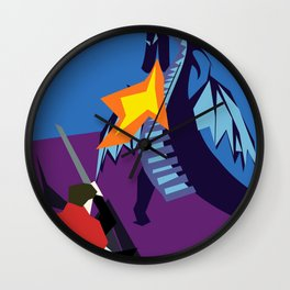 Fight The Dragon Wall Clock