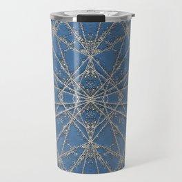 Snowflake Blue Travel Mug