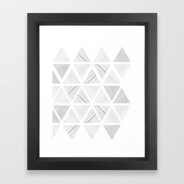 Triangle Hatching Pattern Framed Art Print