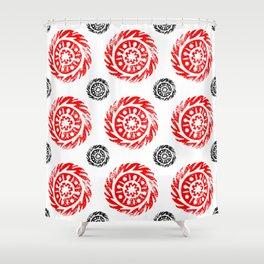Sun mandala pattern Shower Curtain