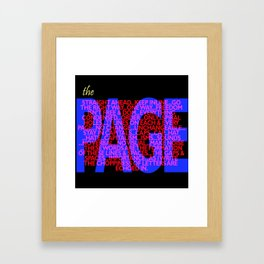 The Page Framed Art Print