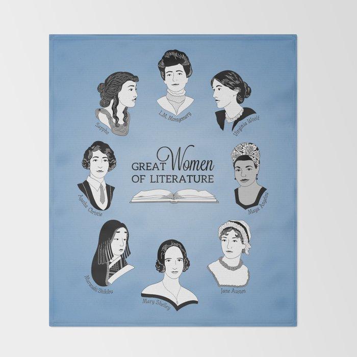 Great Women of Literature Throw Blanket