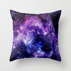 Lion Leo purple blue Throw Pillow